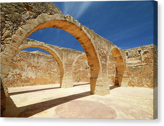 Greece, Crete, Rethymnon, Venetian Canvas Print