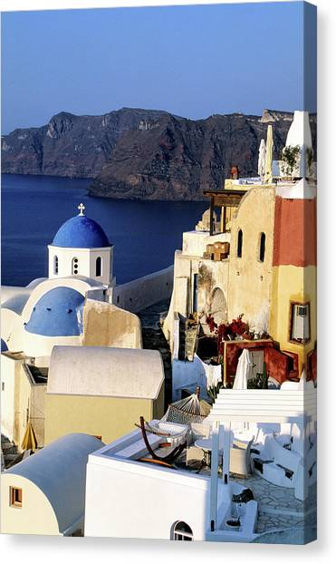 Greece, Cyclades Islands, Santorini Canvas Print