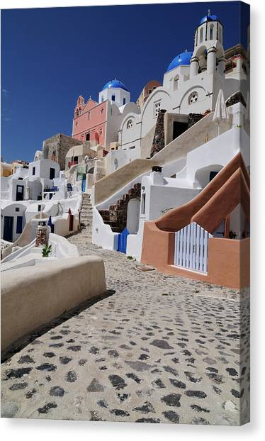 Greece, Cyclades, Santorini Island Canvas Print