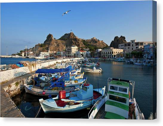 Greece, Lemnos Island, Myrina, Capital Canvas Print