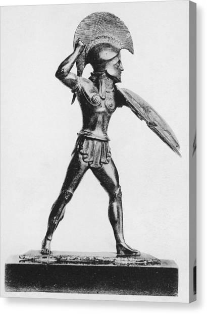 Greek Hoplite Canvas Print by Hulton Archive