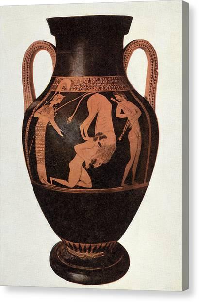 Greek Vase Canvas Print