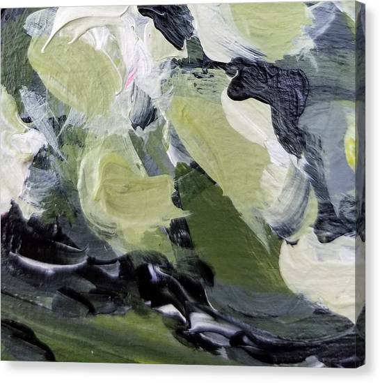 Canvas Print featuring the painting Green #1 by Maria Langgle