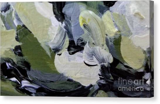 Canvas Print featuring the painting Green #2 by Maria Langgle