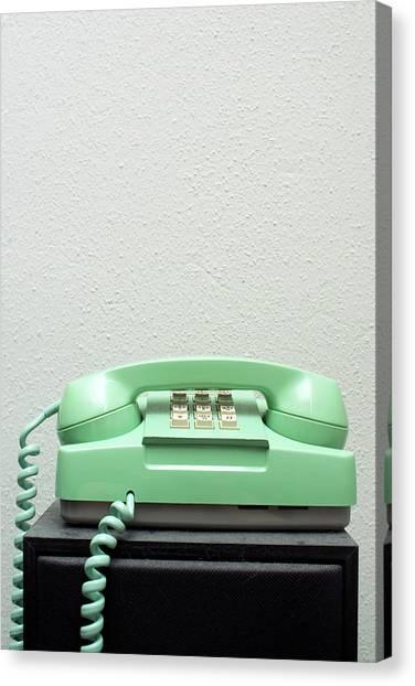 Green Phone Canvas Print