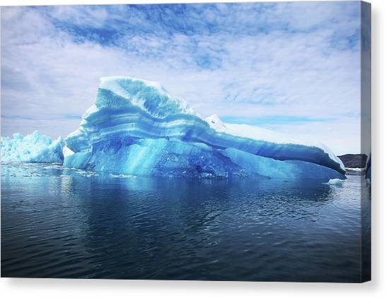 Greenland  A Laboratory For The Canvas Print by Joe Raedle