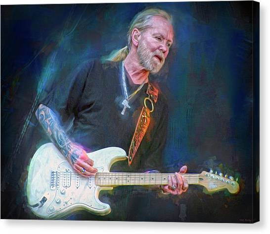 The Allman Brothers Canvas Print - Gregg Allman by Mal Bray