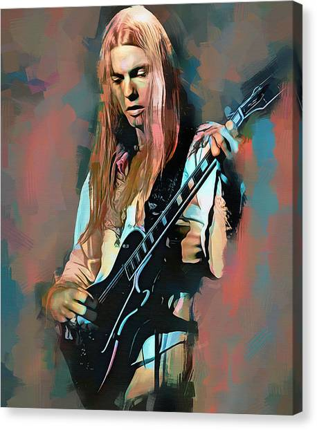 The Allman Brothers Canvas Print - Gregg Allman, The Allman Brothers by Mal Bray