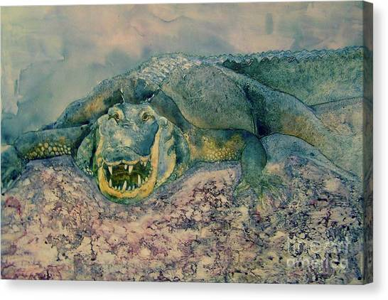 Grinning Gator Canvas Print