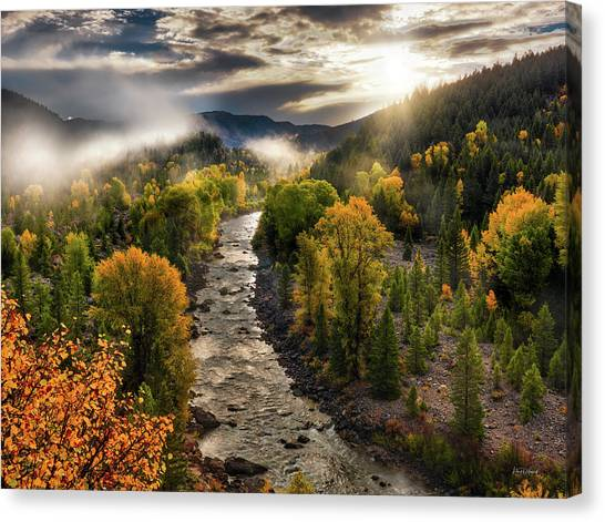 Canvas Print featuring the photograph Gros Ventre River Light by Leland D Howard