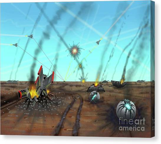 Ground Battle Canvas Print