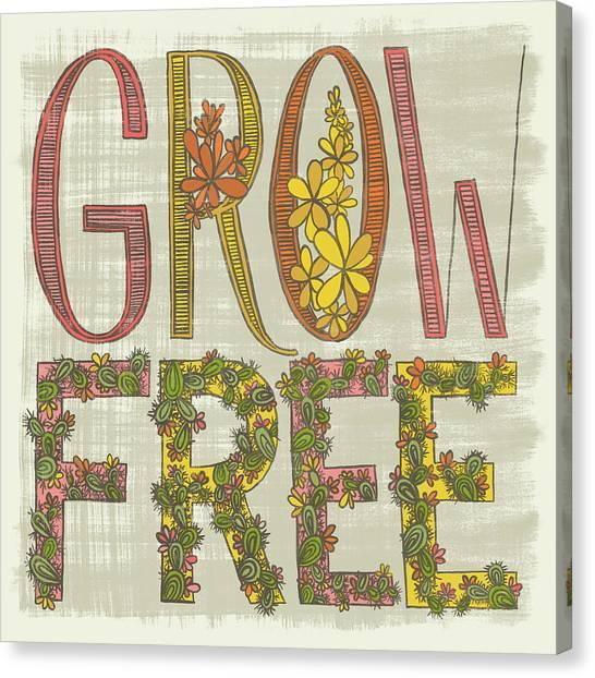 Grow Free Flowering Cacti Canvas Print