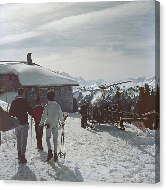 Gstaad Canvas Print by Slim Aarons
