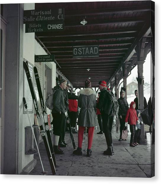 Gstaad Station Canvas Print