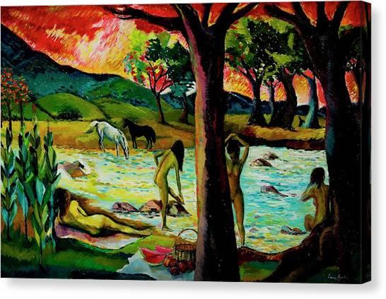 Guachico River, 1992 Oil On Canvas Canvas Print