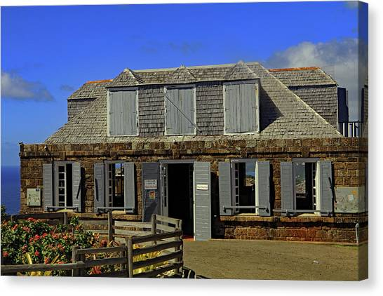 Canvas Print featuring the photograph Guardhouse by Tony Murtagh