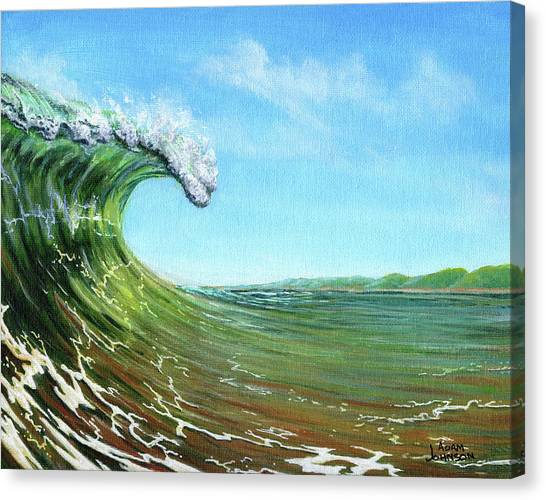 Gulf Of Mexico Surf Canvas Print