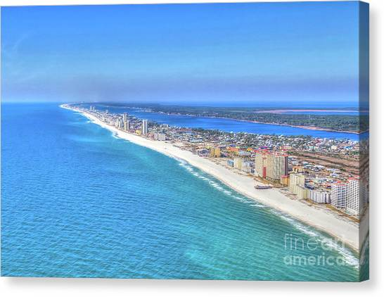 Gulf Shores Beaches 1335 Tonemapped Canvas Print
