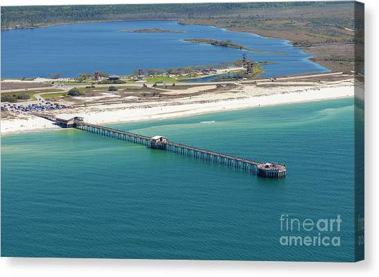 Gulf State Park Pier 7464n Canvas Print