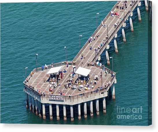 Gulf State Park Pier 7467 Canvas Print