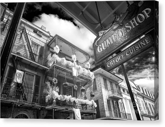 Gumbo Canvas Print - Gumbo And Mardi Gras New Orleans Infrared by John Rizzuto