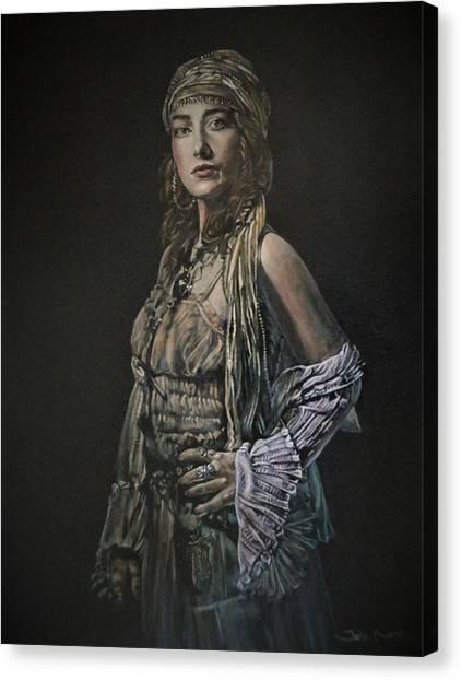 Gypsy Portrait Canvas Print