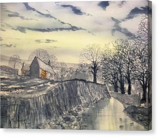 Hag Dyke By Moonlight Canvas Print