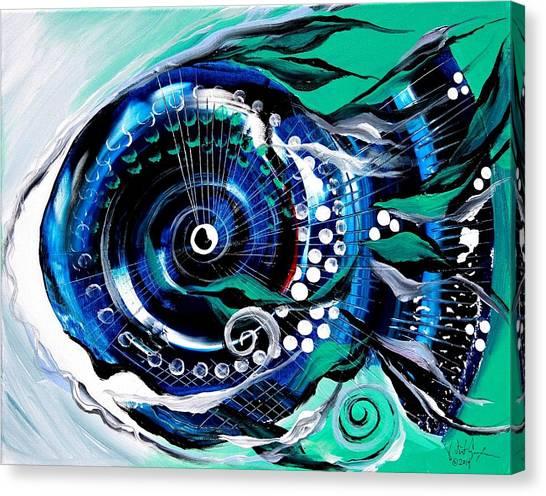 Half-smile, Break The Ice Fish Canvas Print