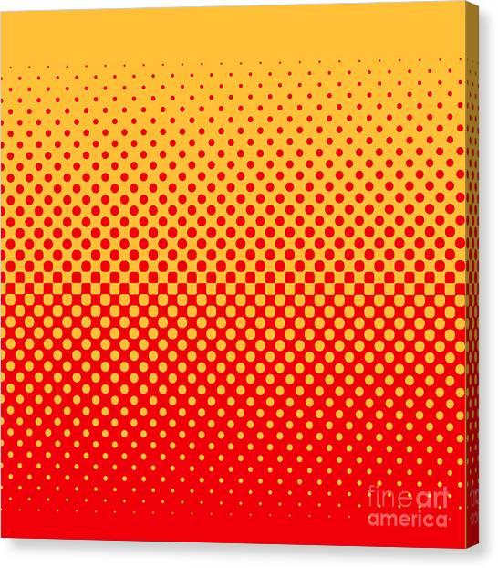 Imagery Canvas Print - Halftone Vector Illustration by Murat Baysan