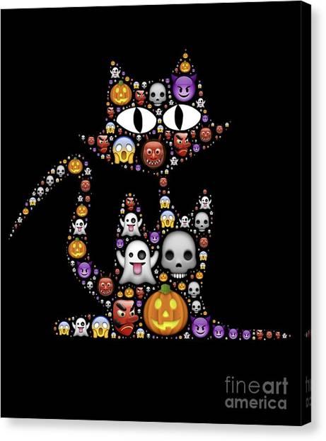 Halloween Cat Canvas Print
