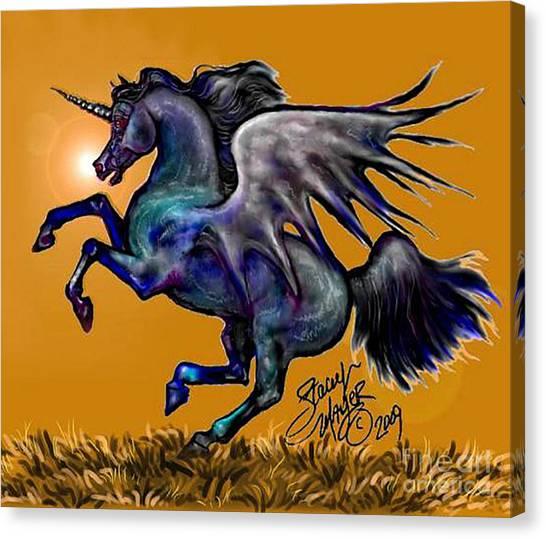 Halloween Fantasy Horse Canvas Print