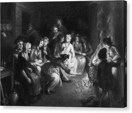Halloween Gathering Canvas Print by Hulton Archive