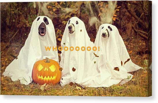 Halloween Hounds Canvas Print