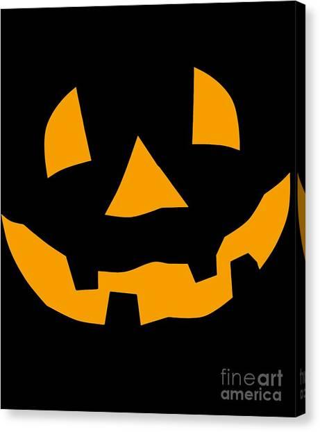 Halloween Pumpkin Tee Shirt Canvas Print