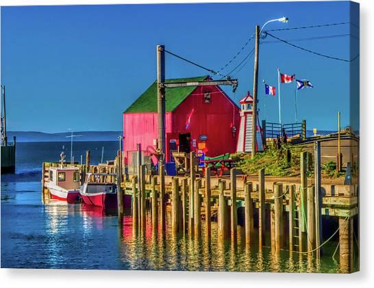 Nova Scotia Canvas Print - Halls Harbour Nova Scotia by David Smith