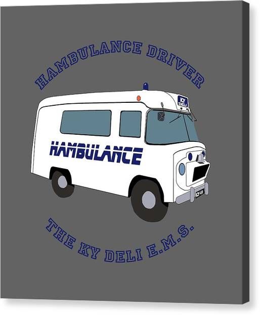 Cookout Canvas Print - Hambulance Driver by Enzwell Designs