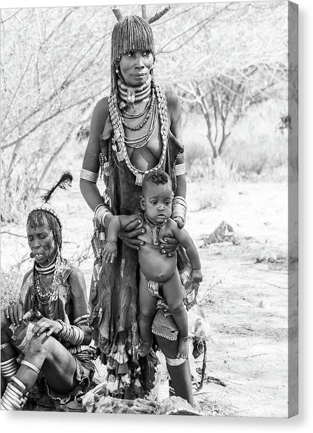 Hammer Women And Child Canvas Print