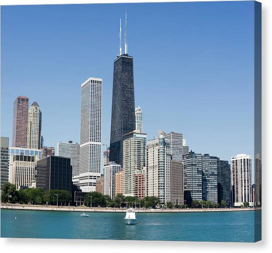Hancock Building And Chicago Lakeshore Canvas Print