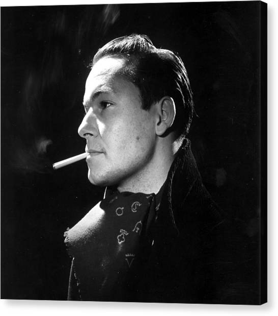Handsome Smoker Canvas Print by Baron
