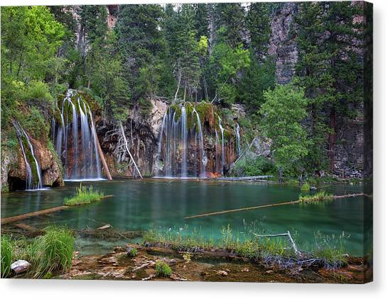 Canvas Print featuring the photograph Hanging Lake Colorado by Nathan Bush