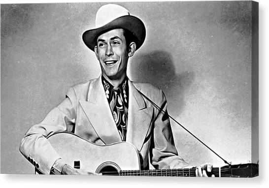 Take A Knee Canvas Print - Hank Williams by Queso Espinosa
