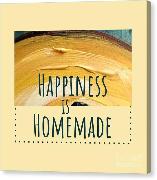 Canvas Print featuring the painting Happiness Is Homemade #2 by Maria Langgle