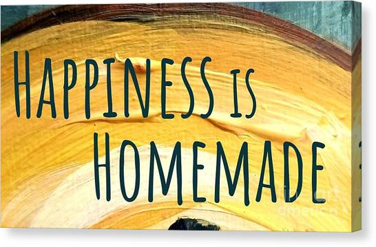 Canvas Print featuring the painting Happiness Is Homemade by Maria Langgle