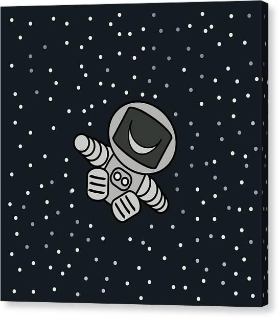 Happy Astronaut Canvas Print