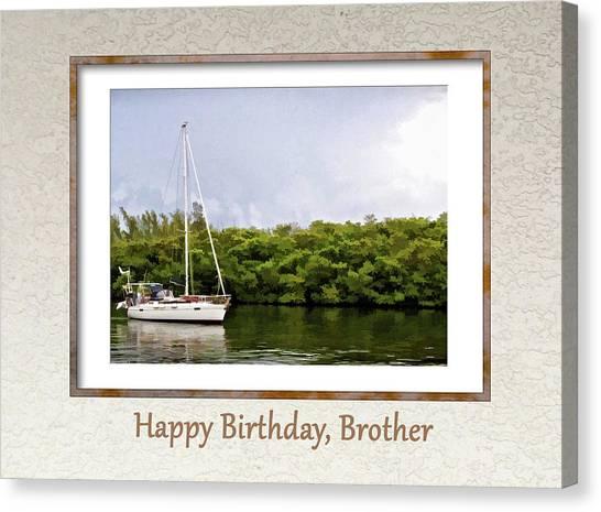 Happy Birthday, Brother Canvas Print