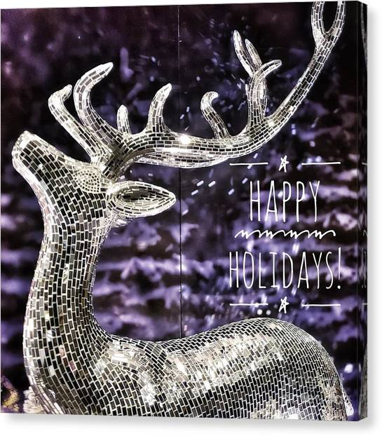Happy Holiday Sparkle Canvas Print