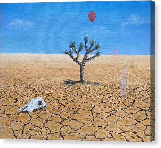 Canvas Print featuring the painting Happy Little Tree by Kevin Daly