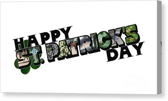 Happy St. Patrick's Day Big Letter Canvas Print