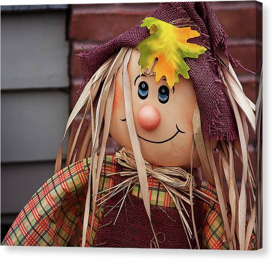 Canvas Print featuring the photograph Happy Thanksgiving Doll by Tatiana Travelways
