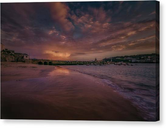 Harbour Sunset - St Ives Cornwall Canvas Print